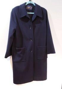 Pendleton long black wool coat